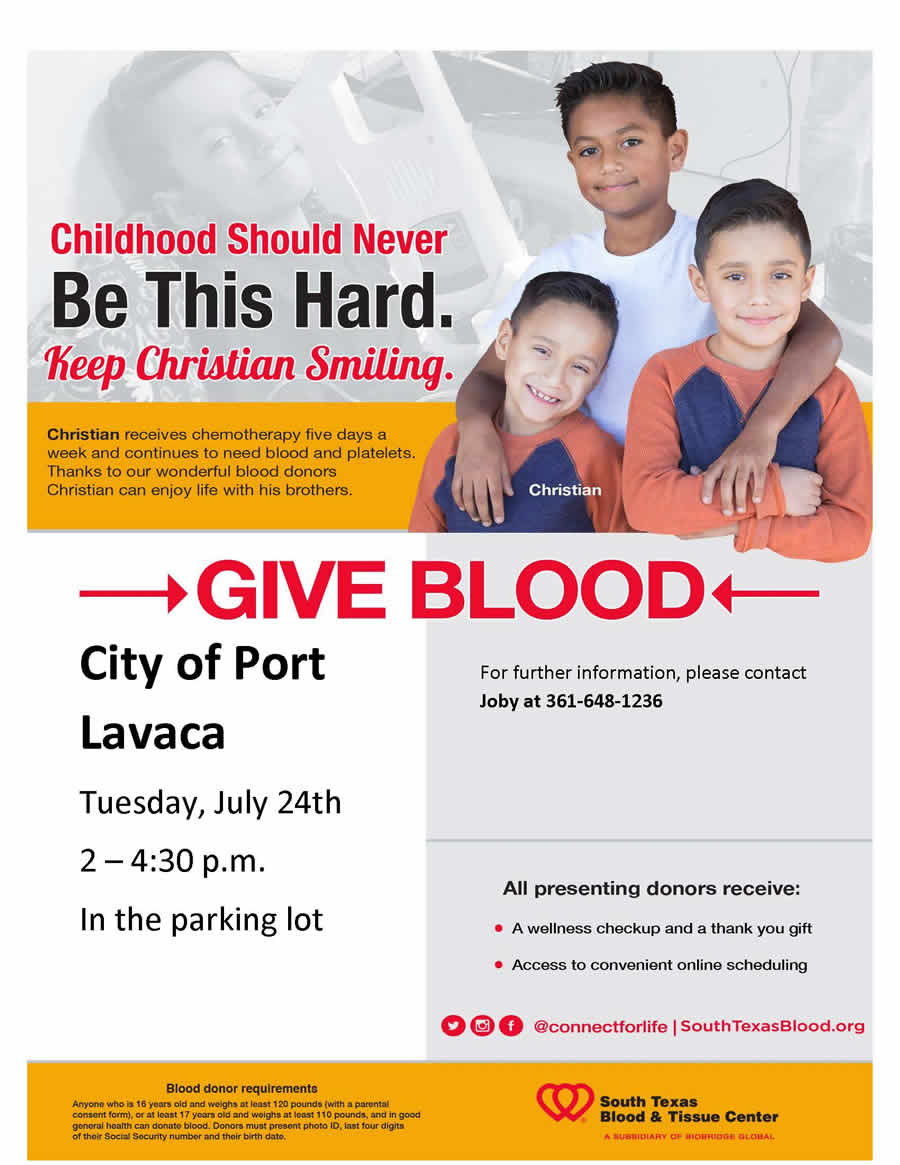 City of Port Lavaca Blood Drive